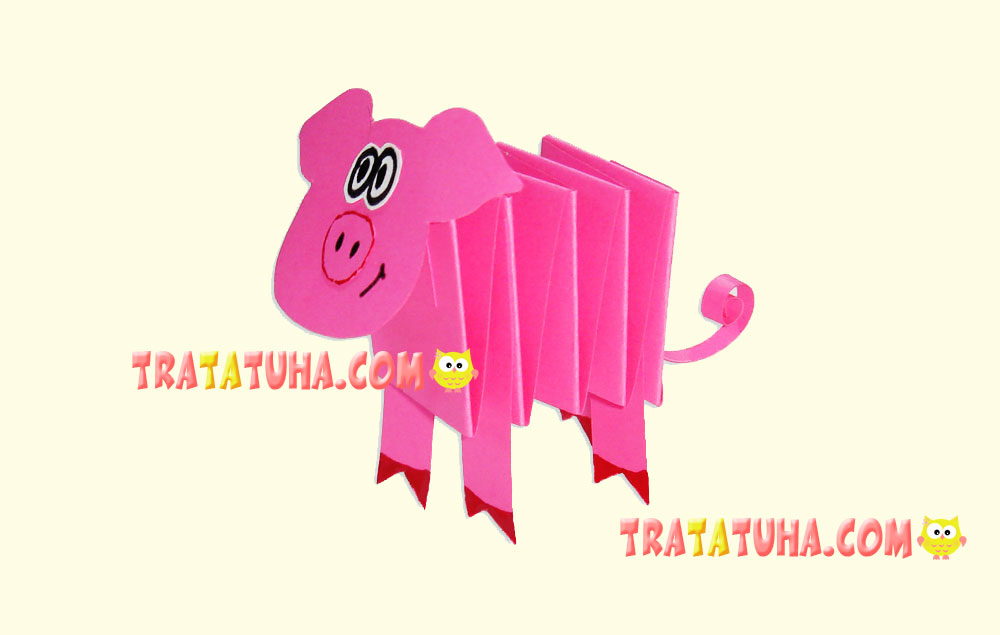 Accordion Paper Pig