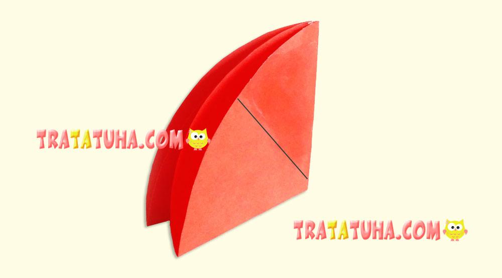 Volumetric paper umbrella