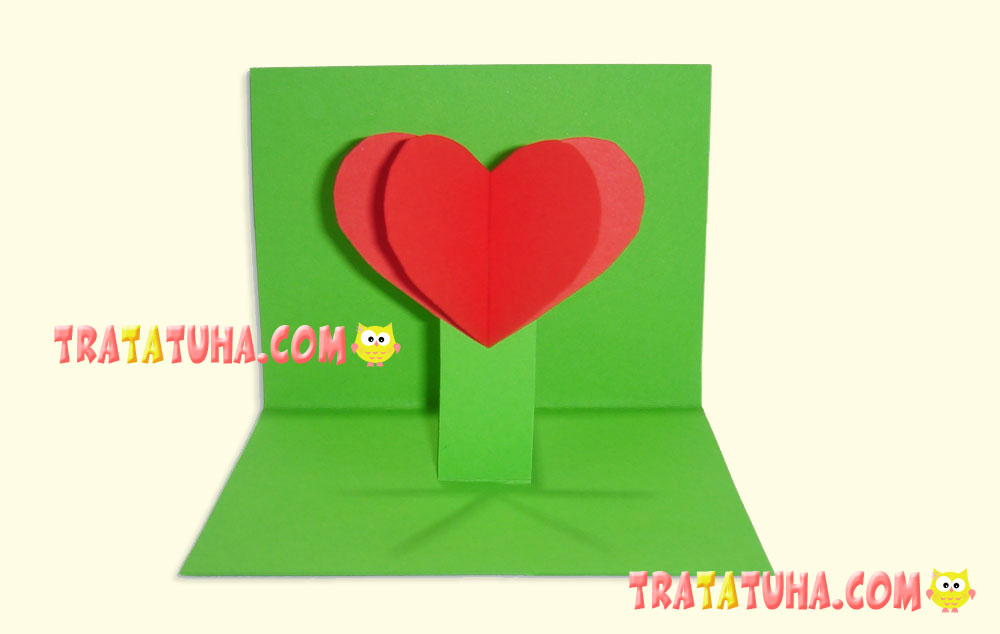 DIY Flower-Heart Greeting Card