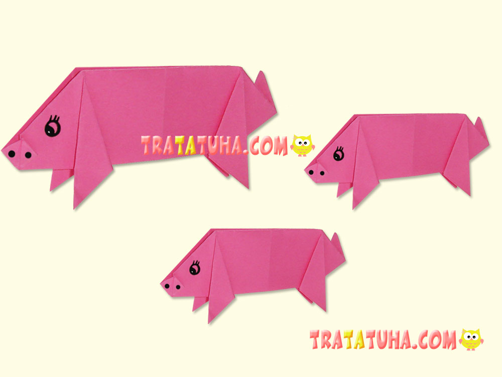 Origami pig