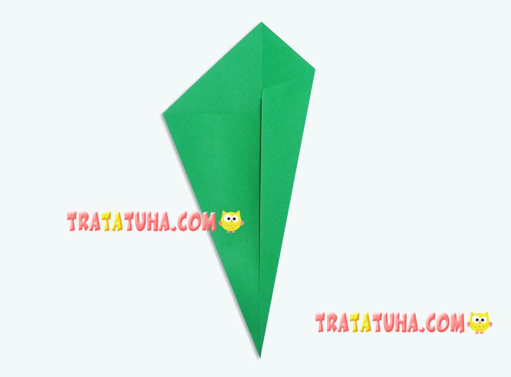 Origami tulip for kids