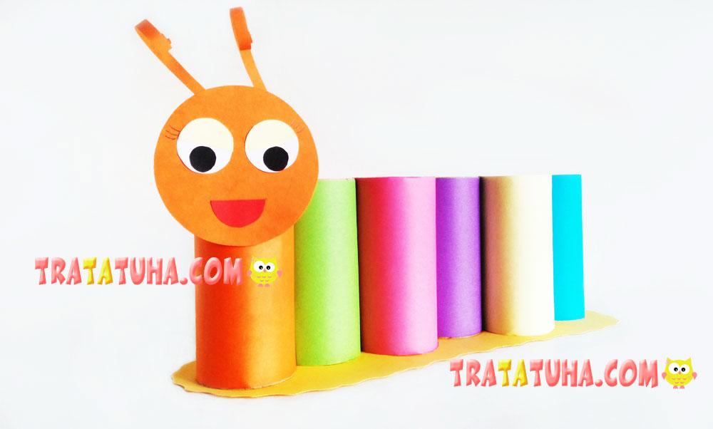 Toilet Paper Roll Caterpillar Pencil Holder