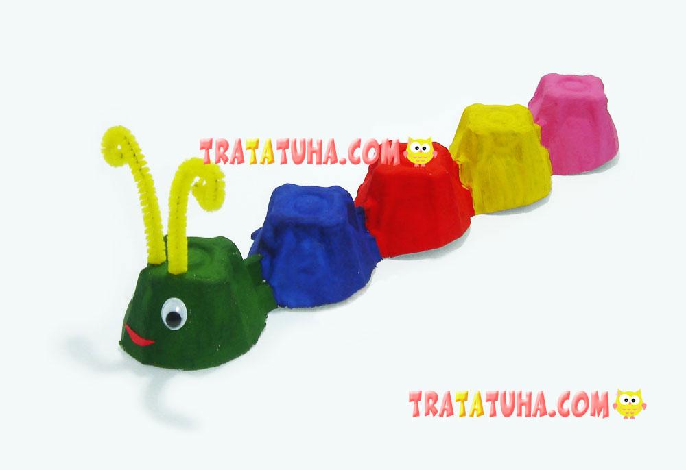 Caterpillar made of egg box