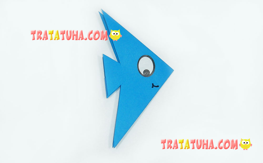 Origami Fish: the Easiest Way for Kids | 619x1000