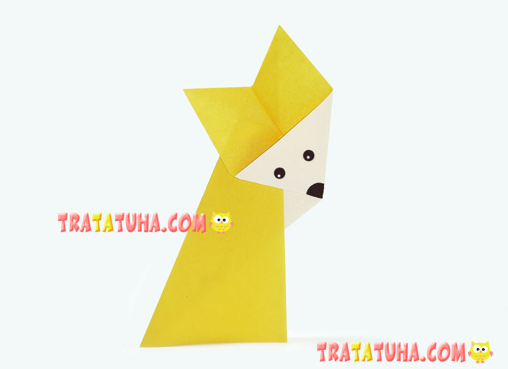 origami fox for kids