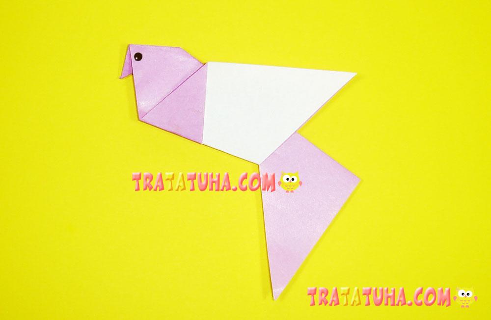 origami pigeon