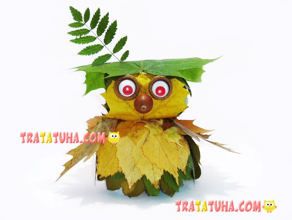 Leaf Owl Craft