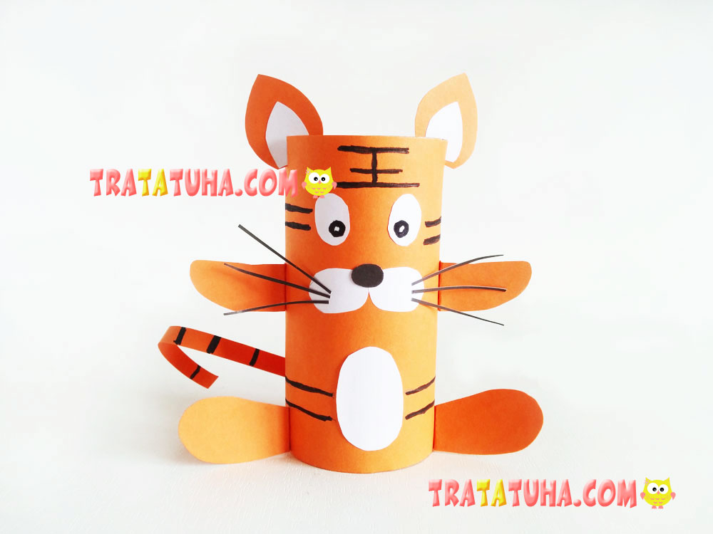 Toilet Paper Roll Tiger