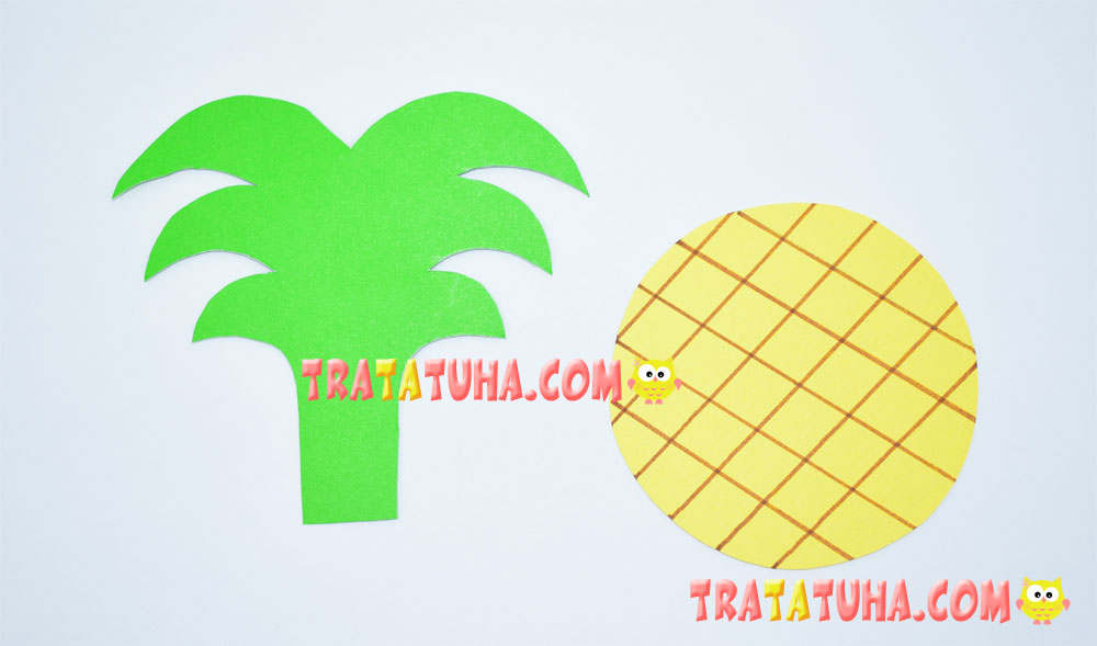 Pineapple of Accordion Paper