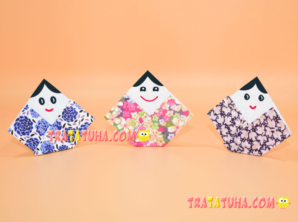 Japanese Origami Doll