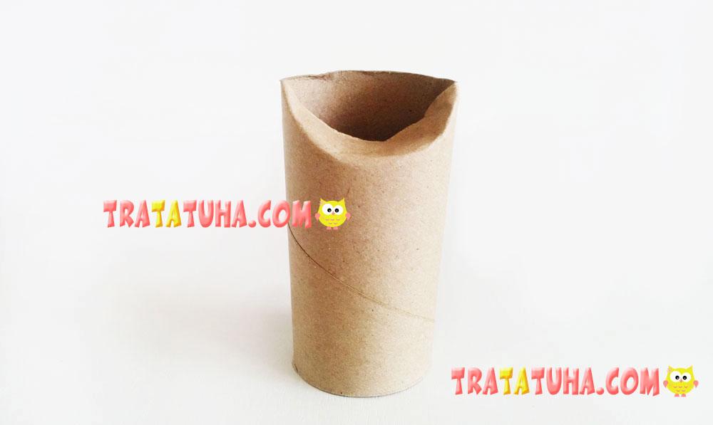 Toilet Paper Roll Cat