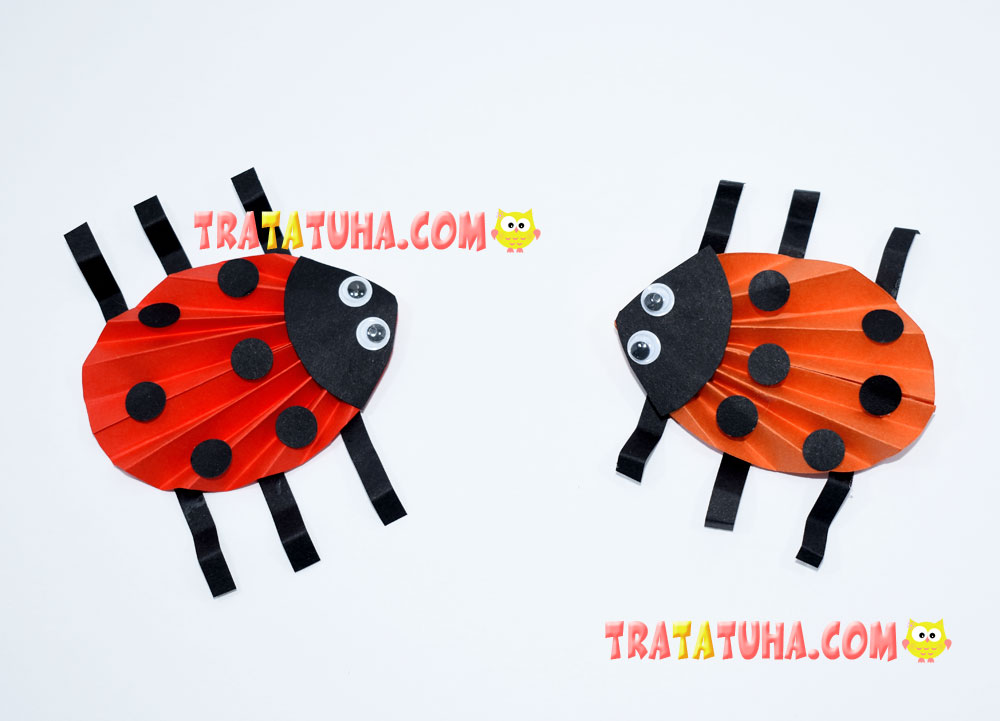 Ladybug of Accordion Paper