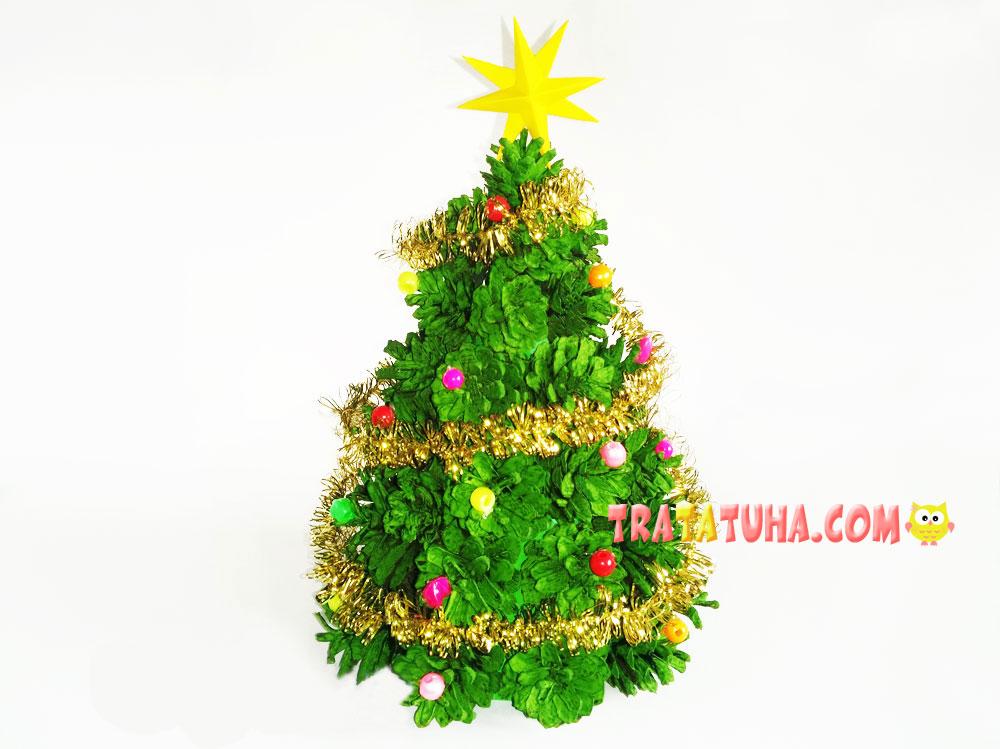 Christmas Tree made of Pine Cones