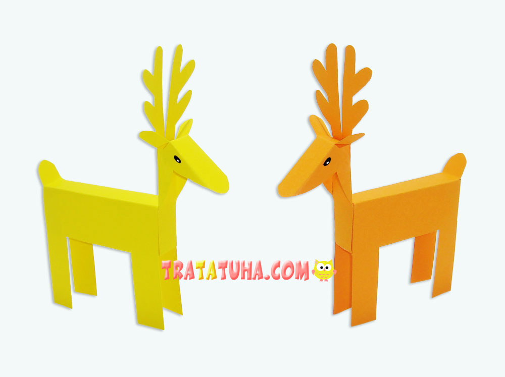 Paper deer with template