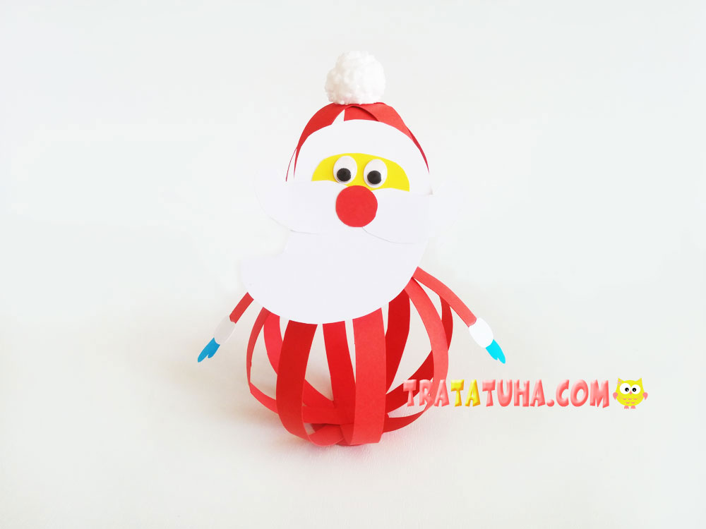 Santa Claus of Paper Strips