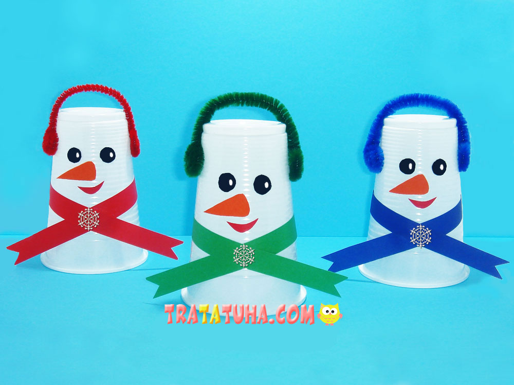 Snowman of Plastic Cup