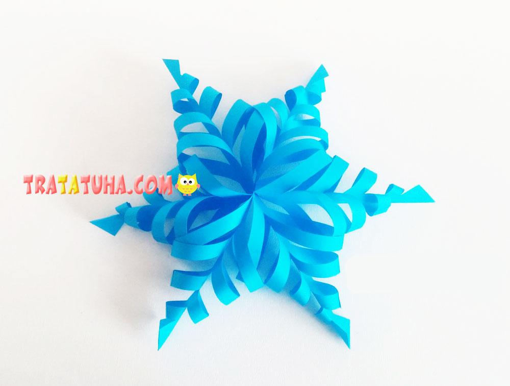 Voluminous paper snowflake