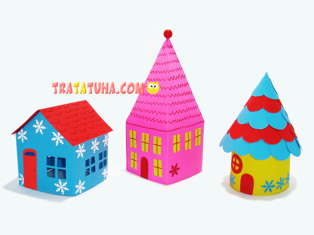 paper houses for Christmas