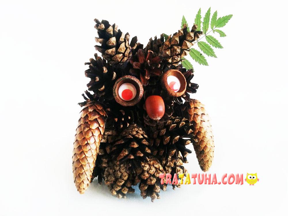 Owl of Pine-Cones