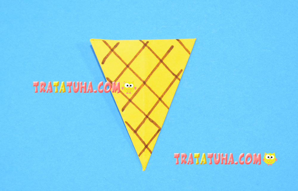Origami Ice Cream Cone